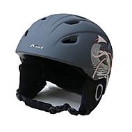 Unisex Helm L: 58-61cm Sport Extraleicht(UL) Befestigt 14 ASTM F 2040 Schnee Sport / Ski Weiß / Schwarz PC / EPS
