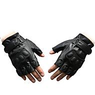 pu käsineet puoli sormea sport ratsastus kuntopyörä moottoripyörän ulkona taisteluhanskat käsipainoharjoituksiisi