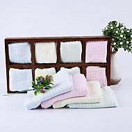 Small Square Pure Bamboo Fiber Towel Face Towel Absorbent Towel for Children Infant