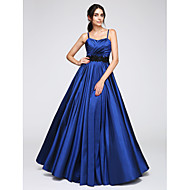 TS Couture® Formal Evening Dress A-line Spaghetti Straps Floor-length Taffeta with Appliques / Criss Cross
