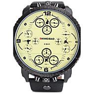SHI WEI BAO A1165 Men Four Movement Time Zone Calendar Function Big Dial Sports Watch