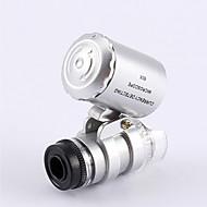 Mindste guldsmedens Microscope 60X 2 LED mini lomme Microscope Magnifier juveleren Loupe