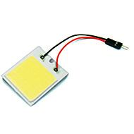רכב רכב 2pcs הוביל 48 שבב קלח SMD עם הנורה לבן פנים אור לוח T10 + לויה socket (dc12v)