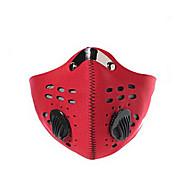מסכת פנים אופנייים עמיד / עמיד לאבק / מגביל חיידקים לגברים אדום / שחור / כחול גומי / שבכה