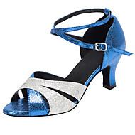 Sapatos de Dança(Azul) -Feminino-Não Personalizável-Latina / Salsa
