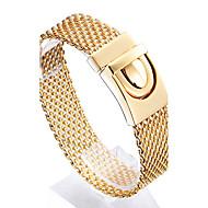 Pánské Řetězové & Ploché Náramky Nerez Pozlacené 18K zlatá Módní Geometric Shape Zlatá Šperky 1ks
