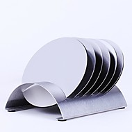 6Pcs/lot Stainless Steel Coffee Cup Coasters Pad Holder Pot Bowls Round Insulated Heat Mat