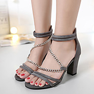 Women's Sandals Summer Sandals / Open Toe Suede Casual Chunky Heel Others Black / Red / Gray Others