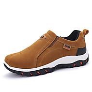 גברים-נעליים ללא שרוכים-סוויד-נוחות-שחור אפור חאקי-יומיומי-עקב שטוח