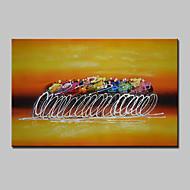 El-Boyalı Soyut / İnsanlar Yağlıboya,Modern Tek Panelli Kanvas Hang-Boyalı Yağlıboya Resim For Ev dekorasyonu