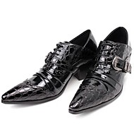 Men's Oxfords Spring/Summer/Fall/Winter Comfort Patent Leather Party & Evening / Casual Chunky Heel Black