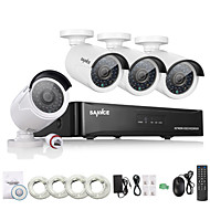 SANNCE® 4CH HD 1.3 MP 960P NVR POE Security IP Camera Kit System Home Network Outdoor