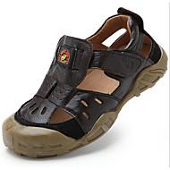 Sandaler-Læder-Sandaler-Drenge-Blå / Brun / Khaki-Udendørs-Flad hæl
