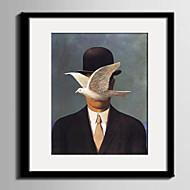 Animal / Pessoas Quadros Emoldurados / Conjunto Emoldurado Wall Art,PVC Material Preto Cartolina de Passepartout Incluída com frame For