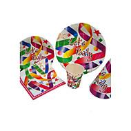 Födelsedag Parti Porslin-100Andra Baktillbehör Blomblad Kortpapper Classic Theme Other Ej personlig Multifärg