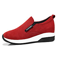 Women's Sneakers Fall Comfort Suede Office & Career / Dress / Casual Flat Heel Others Black / Red Others