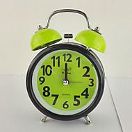 (Couleur aléatoire) de 3 pouces alarme cadeau de mode exquise horloge cloche de mouvement muet avec veilleuse