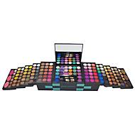 150 Blush+Sombra para Olhos+Primer para Lábio+Esponja de Pó de Arroz/Esponja de Maquiagem Brilho Olhos / Rosto Gloss Colorido / Natural
