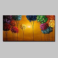 Pintados à mão Abstrato Paisagem Floral/Botânico Paisagens Abstratas Horizontal,Moderno 1 Painel Tela Pintura a Óleo For Decoração para