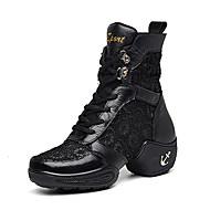 Sapatos de Dança(Preto / Branco) -Feminino-Não Personalizável-Jazz / Tênis de Dança / Moderna
