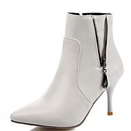 Dame-Syntetisk Lakklær Kunstlær-Stiletthæl-Cowboystøvler Snøstøvler Ridestøvler Motestøvler-Høye hæler-Bryllup Kontor og arbeid Formell