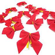 12kpl / erä joulu bowknot joululahja joulukuusi koristelu