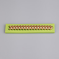 Long strip shape fondant cake mold decoration tools fondant cutter silicone lace mat mold