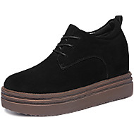 Women's Sneakers Spring / Summer / Fall / Winter Creepers Suede Athletic / Casual Platform Lace-up Black / Khaki