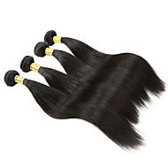 halloween 4 Bündel malaysischer Haar gerade Seide Bündel 200g nicht verarbeitete reine Menschenhaareinschlagverlängerungen