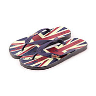 Men's Slippers & Flip-Flops Summer Leatherette Outdoor Flat Heel Others Blue Red Other