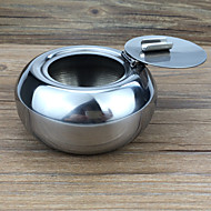 1PC  Creative Home Decoration Domestic Bureaux KTV  Windtight Stainless Steel Ashtray
