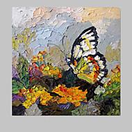 Handgeschilderde DierenModern Eén paneel Canvas Hang-geschilderd olieverfschilderij For Huisdecoratie