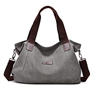 Women Bags All Seasons Canvas Tote with for Casual White Gray Coffee Blue Wine