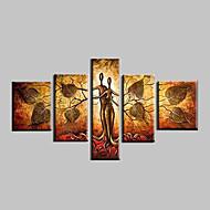 El-Boyalı Soyut Manzara Fantezi Soyut Manzara Herhangi Şekli,Modern Beş Panelli Kanvas Hang-Boyalı Yağlıboya Resim For Ev dekorasyonu