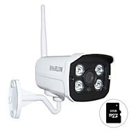 hosafe.com 720p מצלמת IP חיצונית אלחוטית onvif w / מיקרו SD 32GB התראה כרטיס / זיהוי תנועה / דואר אלקטרוני
