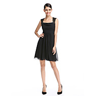 Cocktail Party Dress A-line Square Short / Mini Chiffon / Lace with Lace / Ruching