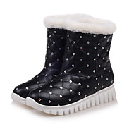 Women's Boots Spring Fall Winter Creepers Comfort PU Office & Career Athletic Casual Platform Sequin Slip-on Plaid Black White Hiking