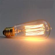 ST58 40w e27 lâmpada incandescente retro filamento da lâmpada de Edison do vintage (AC220-240V)