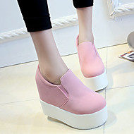 Women's Loafers & Slip-Ons Fall Platform Suede Casual Wedge Heel Others Black / Pink / White Others