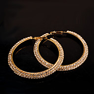 Earring Circle Jewelry Women Fashion Wedding / Party / Daily Copper / Gold Plated 1 pair White