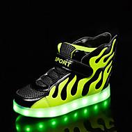 Jungen-Sneaker-Outddor Lässig Sportlich-PU-Flacher Absatz-Komfort Neuheit Light Up Schuhe-Weiß Schwarz Rot