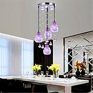 7 Luzes Pingente ,  Contemprâneo / Lanterna Galvanizar Característica for Cristal / LED / Estilo Mini / Designers MetalSala de Estar /