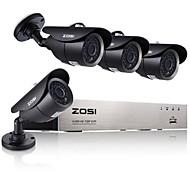 zosi®4ch ahd dvr 4 stuks 720p ir camera binnenlandse veiligheid surveillance kits CCTV-systeem