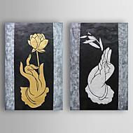 Ručně malované Zátiší olejomalby,Moderní Dva panely Plátno Hang-malované olejomalba For Home dekorace