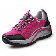 Women's Sneakers Fall Winter Fabric Outdoor Flat Heel Lace-up Purple Red Hiking