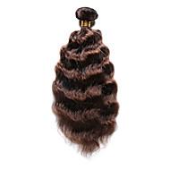 Cabelo Humano Cabelo Indiano Precolored Tece cabelo Ondas Médias Extensões de cabelo 1 Peça Marrom Médio