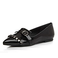 Women's Loafers & Slip-Ons Spring / Summer / Fall Flats Leather Outdoor Flat Heel Tassel Black / Burgundy Others
