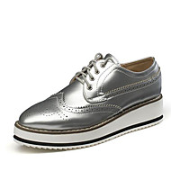 Women's Sneakers  Creepers / Flats Leatherette Outdoor / Athletic / Casual Platform Lace-up Black / Silver