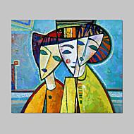 Hånd-malede Mennesker / Abstrakt Portræt Et Panel Canvas Hang-Painted Oliemaleri For Hjem Dekoration