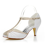 Women's Sandals Spring / Summer / Fall Peep Toe Silk Wedding / Party & Evening / Dress Cone Heel Others White Others